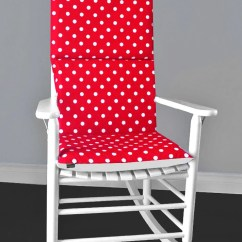 Polka Dot Rocking Chair Cushions Best Value Computer Red White Reversible Cushion And Cover Etsy Image 0