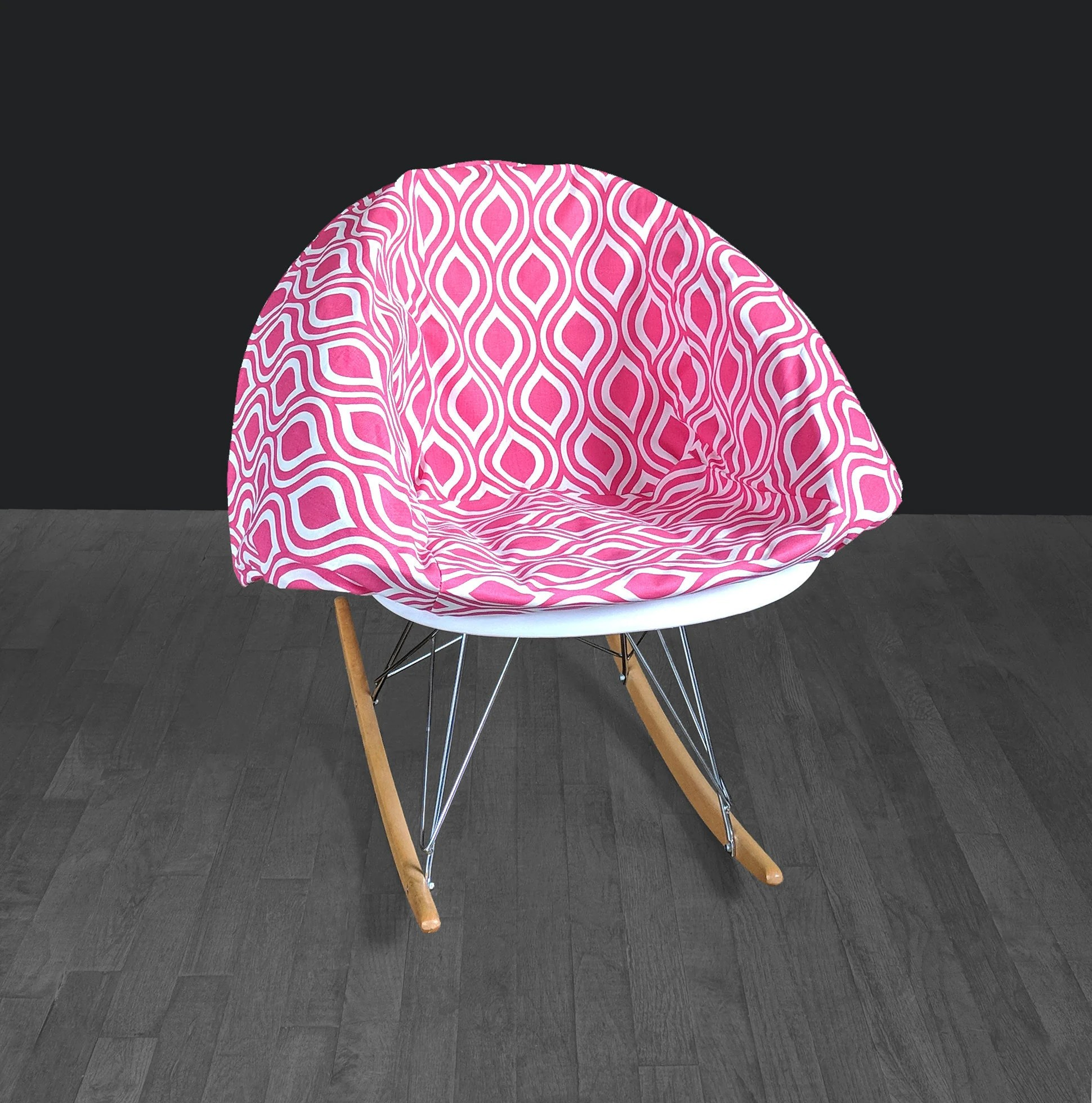 Pink Rocking Chair Cushions Bold Funky Pink Eames Rocking Chair Pad