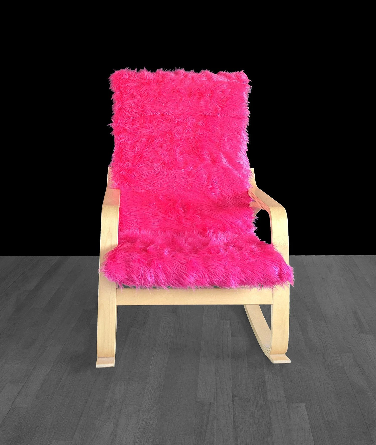 pink slipcover chair white yard chairs hot fur ikea poang cushion custom gallery photo