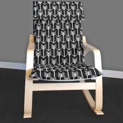 Custom Chair Covers Ikea Rocking Camping Poang Arrow Cushion Seat Cover Etsy Image 0