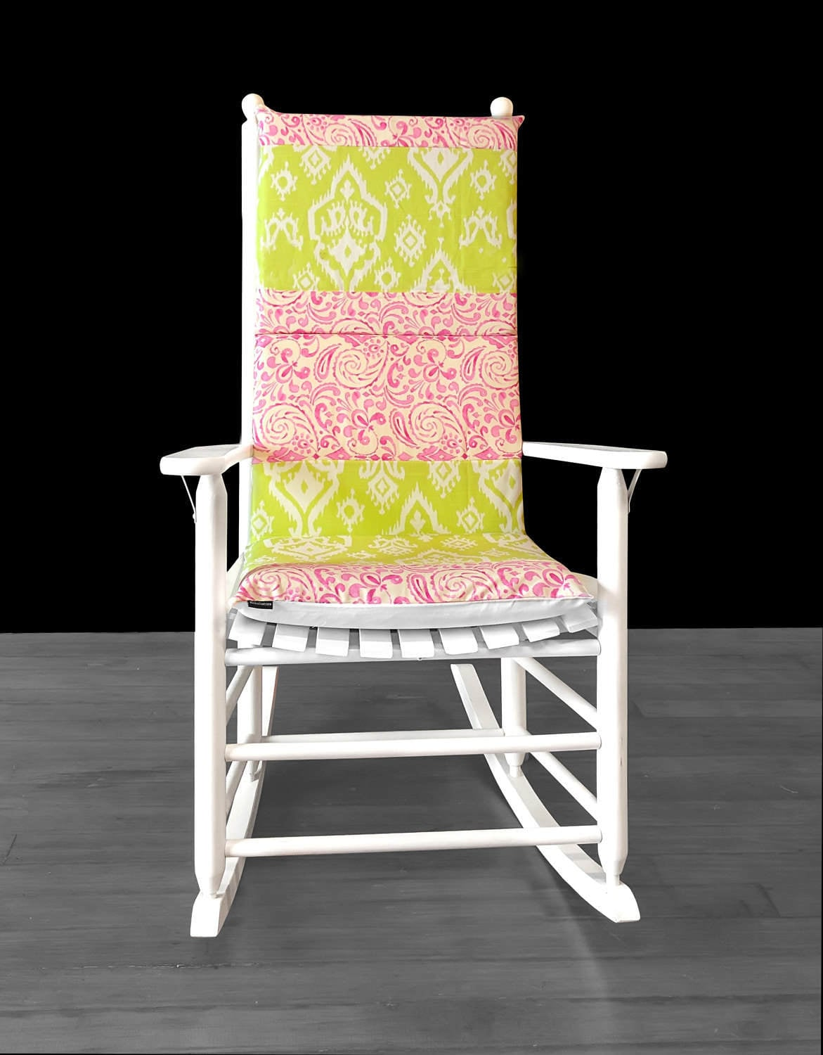 Pink Rocking Chair Cushions Indian Ikat Rocking Chair Cushion Pads Cover