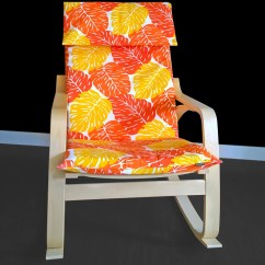 Poang Chair Covers Etsy Bud Light With Cooler Orange Leaves Cover Leaf Ikea Seat Image 0