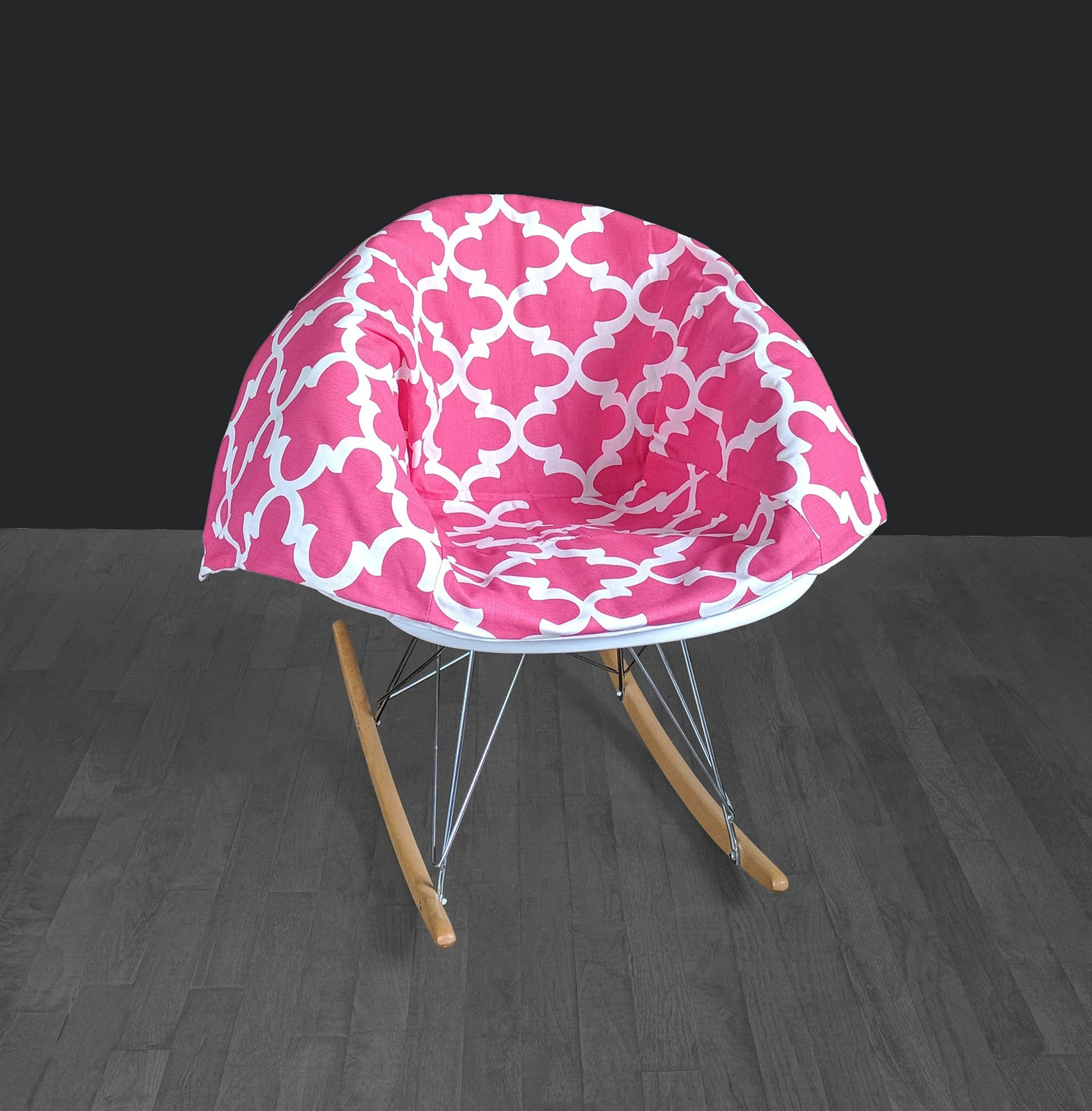 Pink Rocking Chair Cushions Candy Pink Eames Rocking Chair Pad