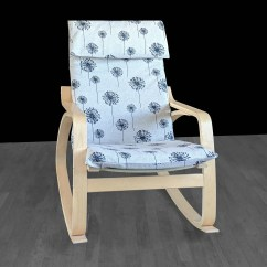 Ikea Poang Chair Cover Potty With Ladder Dandelion Print Custom Seat Gallery Photo