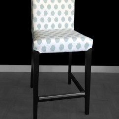Ikea Accent Chair Covers Rolling Bath Henriksdal Bar Stool Slipcovers Etsy Image 0