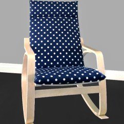 Poang Chair Covers Etsy Steel Rental Navy Polka Dot Cover Image 0