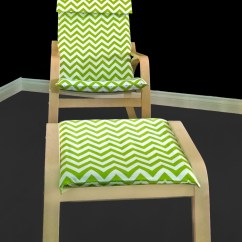 Custom Chair Covers Ikea Accessories For Weddings Green Chevron Poang Seat Cover Gallery Photo