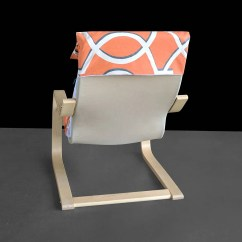 Ikea Poang Chair Cover Depot Discount Code Sale Orange Retro Pattern Gallery Photo