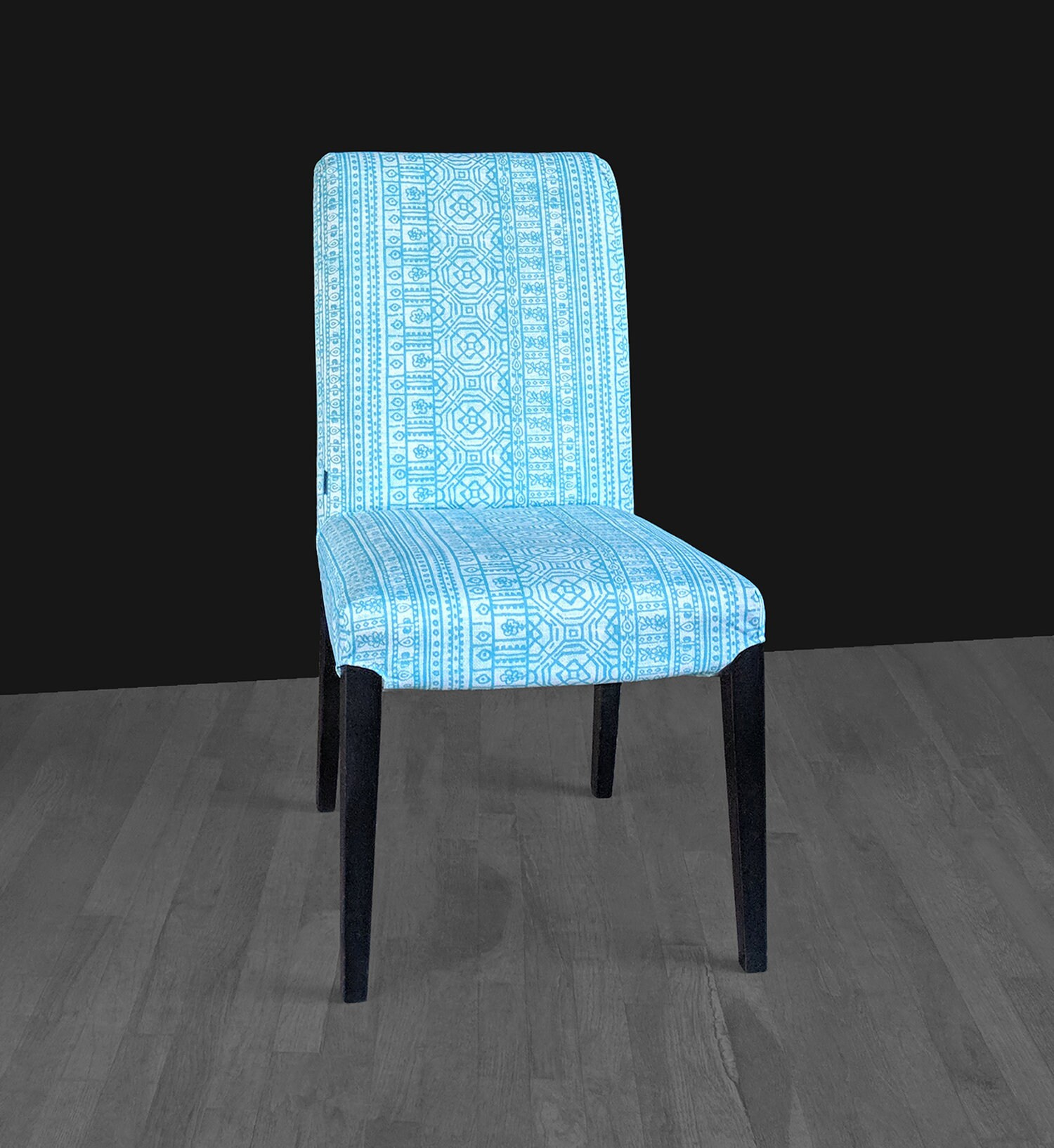 Blue Patterned Chair Blue Patterned Mexican Print Ikea Henriksdal Chair Cover