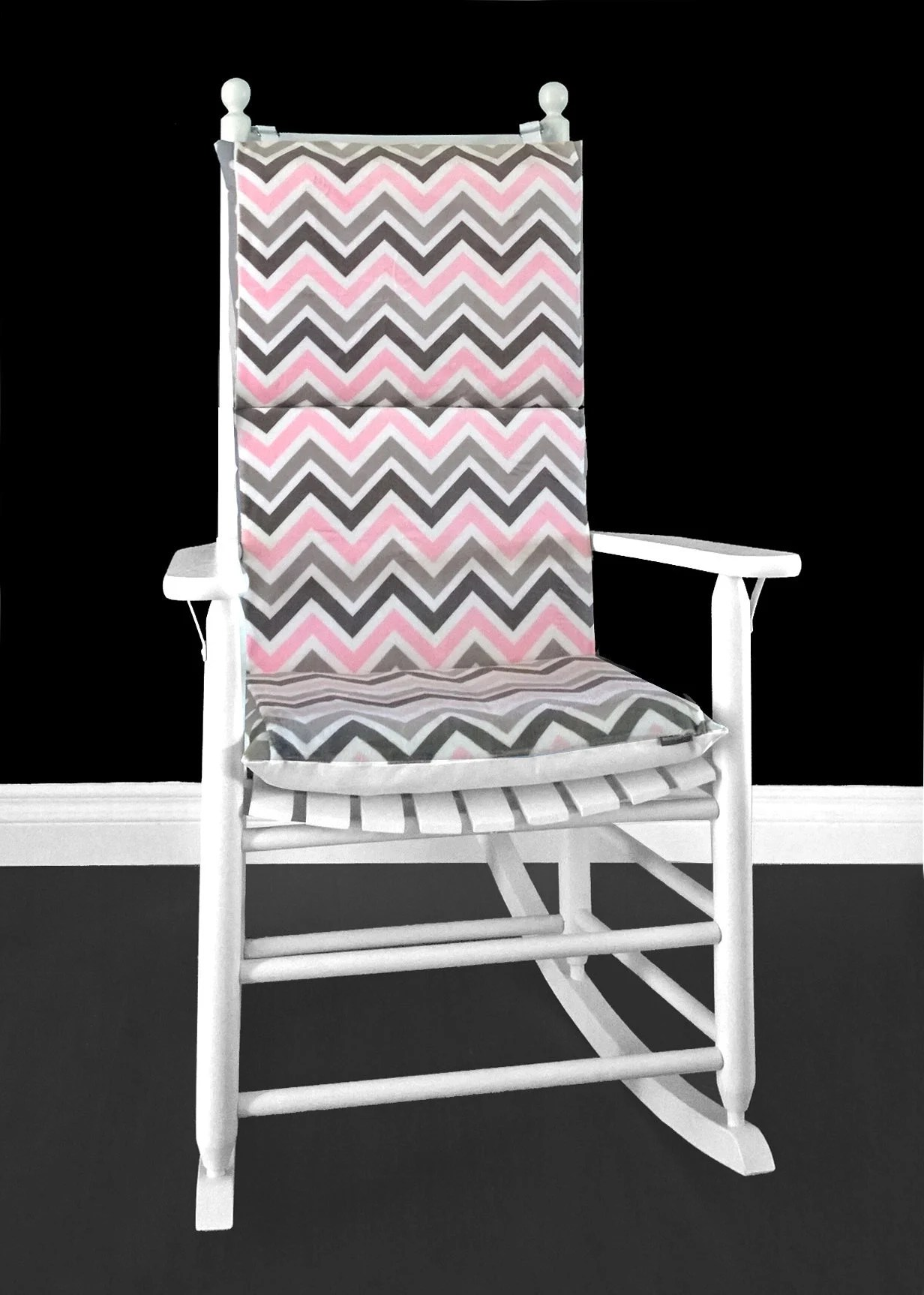 Pink Rocking Chair Cushions Pink Zig Zag Rocking Chair Custom Covers And Inserts