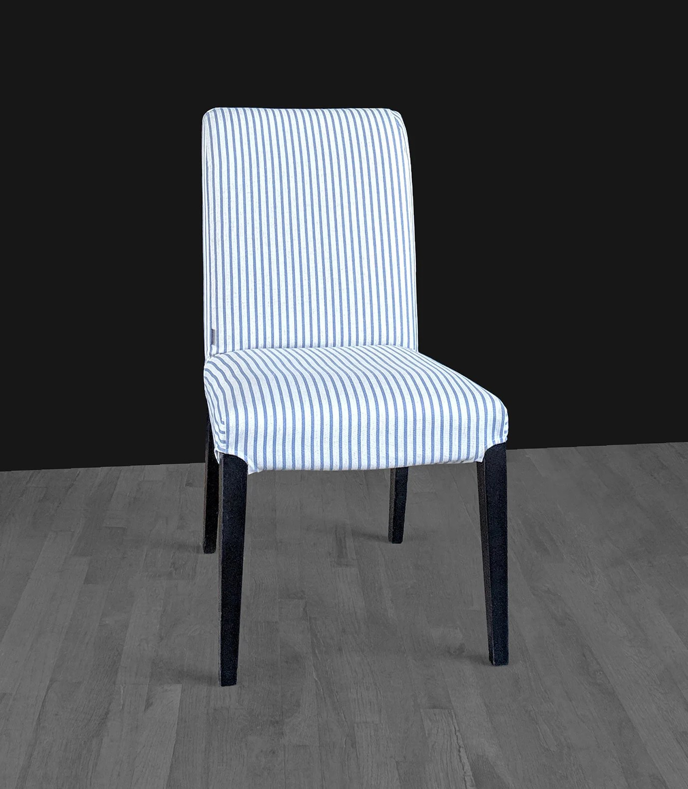 dining chair seat covers etsy wood kitchen chairs blue ticking stripe ikea henriksdal cover image 0