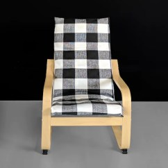 Poang Chair Covers Etsy And Sashes Hampshire Black Buffalo Check Pattern Ikea Kids Cover Image 0