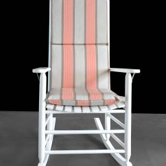 Outdoor Rocking Chair Covers Sectional For Sale Sunbrella Orange Pad Stripe Seat