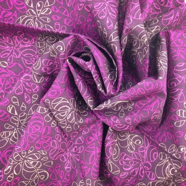 Fabric Purple Natural Elements Art
