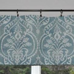 Blue Kitchen Valance Snaking A Drain Indigo Curtain Etsy Image 0