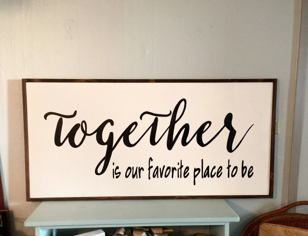 Favorite Place Sign Over Bed Wall Art Farmhouse Style