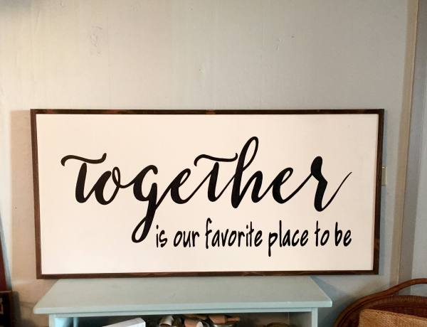 Favorite Place Sign Over Bed