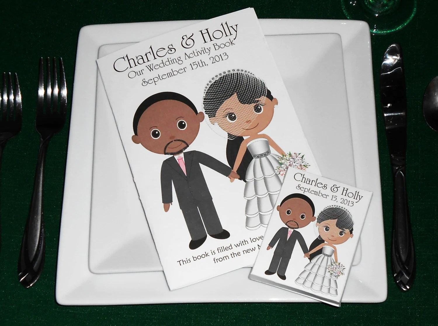 Printable Personalized Custom 8 5x 5 5 Wedding Favor Kids