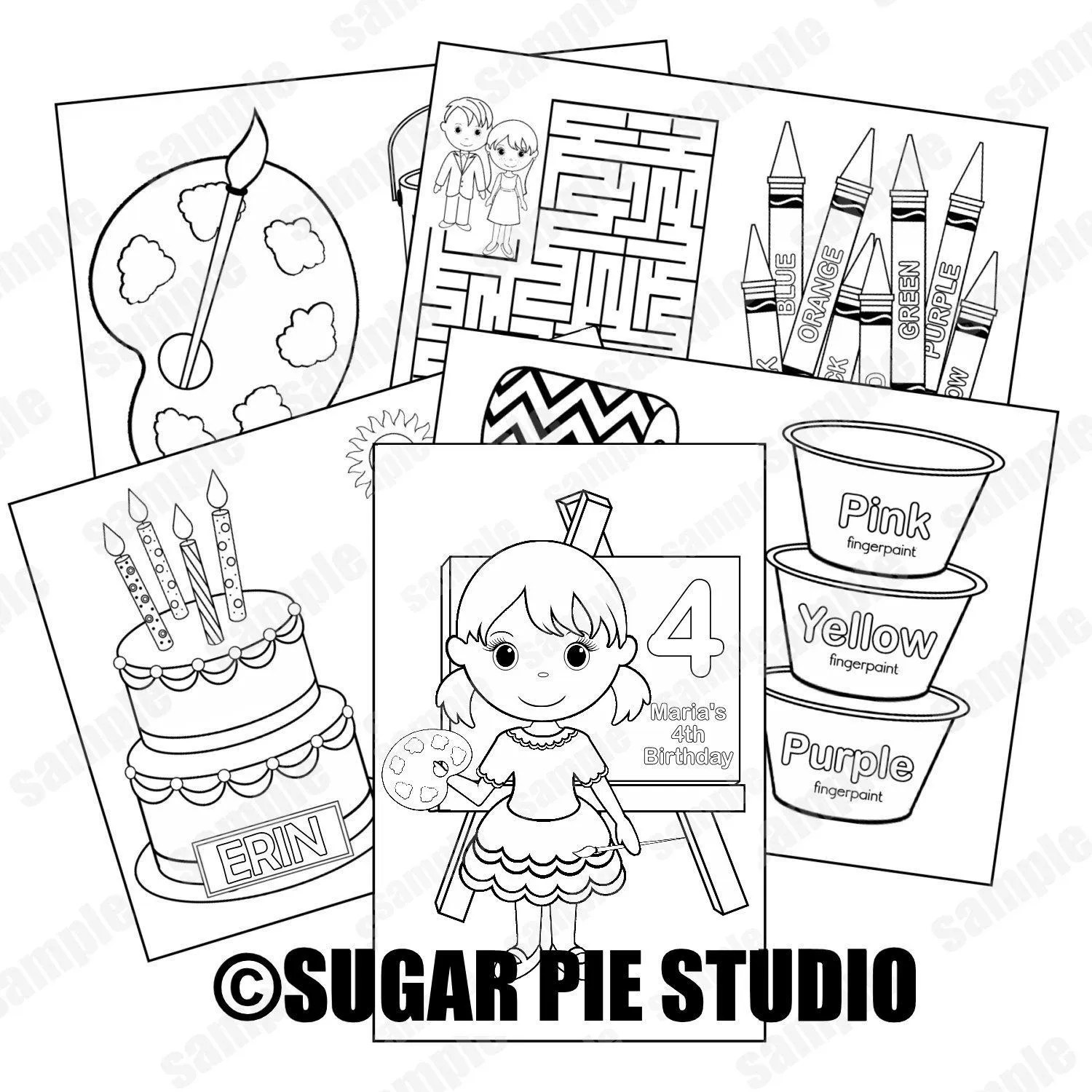 Printable Personalized Custom 8.5x 5.5 Art Craft Party