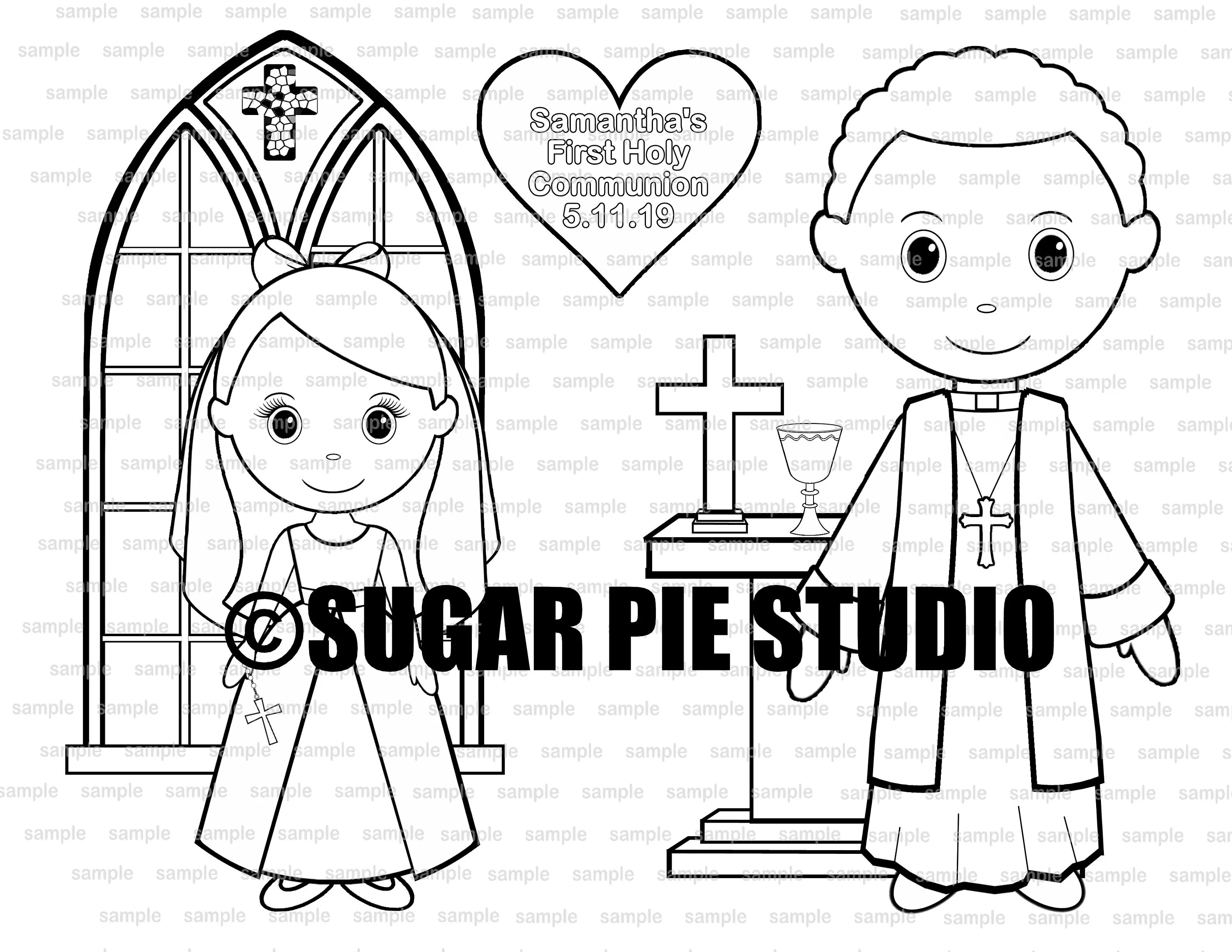 Communion coloring activity page PDF or JPEG TEMPLATE