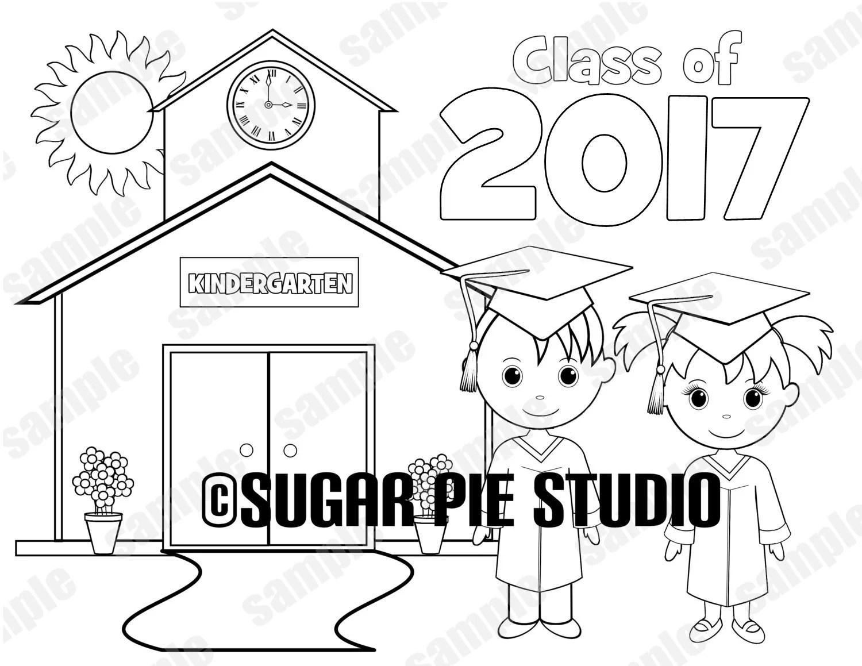 Printable Kindergarten Graduation favor Kids coloring page