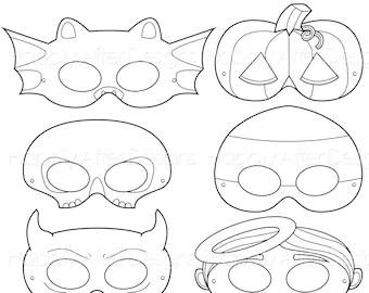 Fruits Printable Coloring Masks strawberry mask banana mask