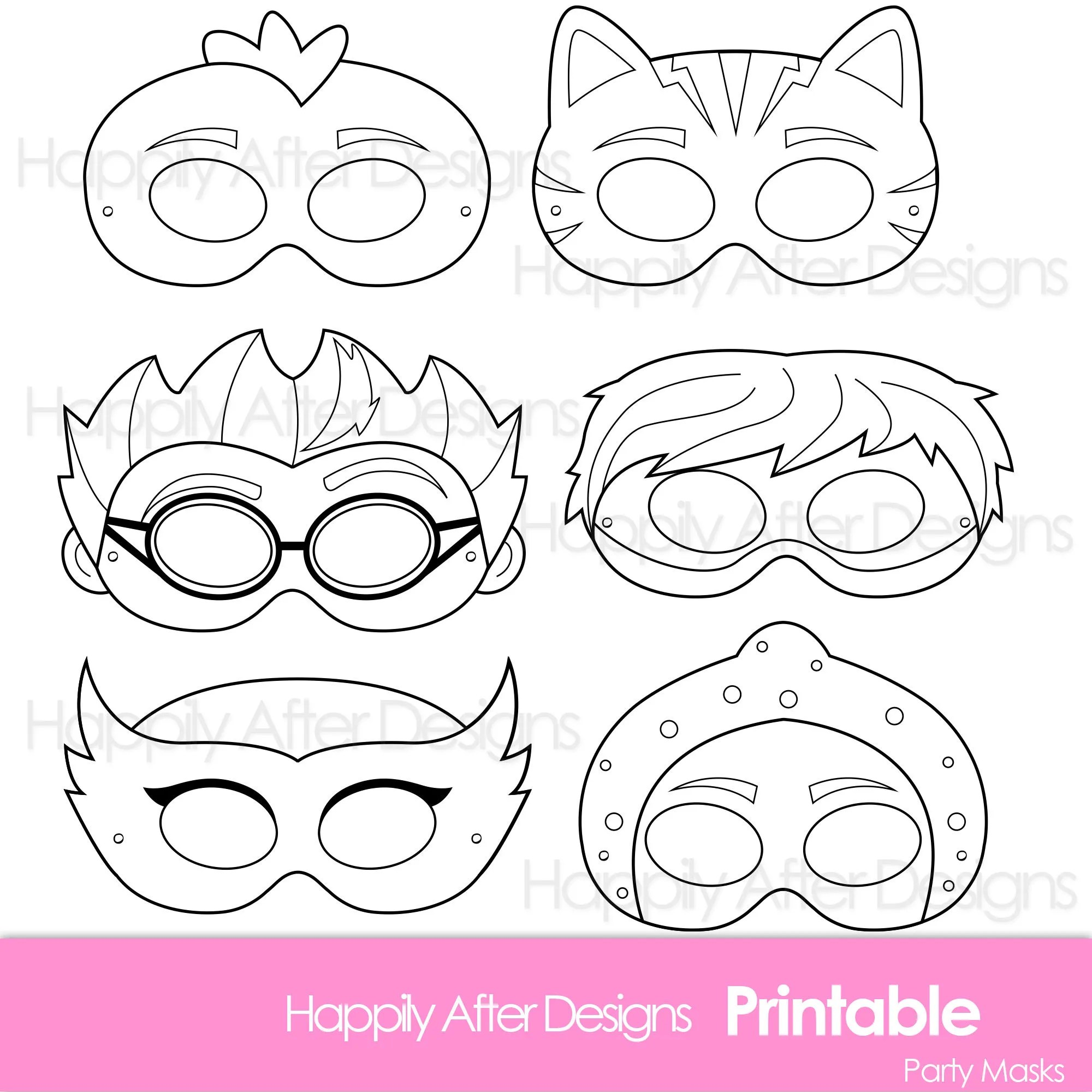 Super Kids Printable Coloring Masks Hero Mask Villain Mask