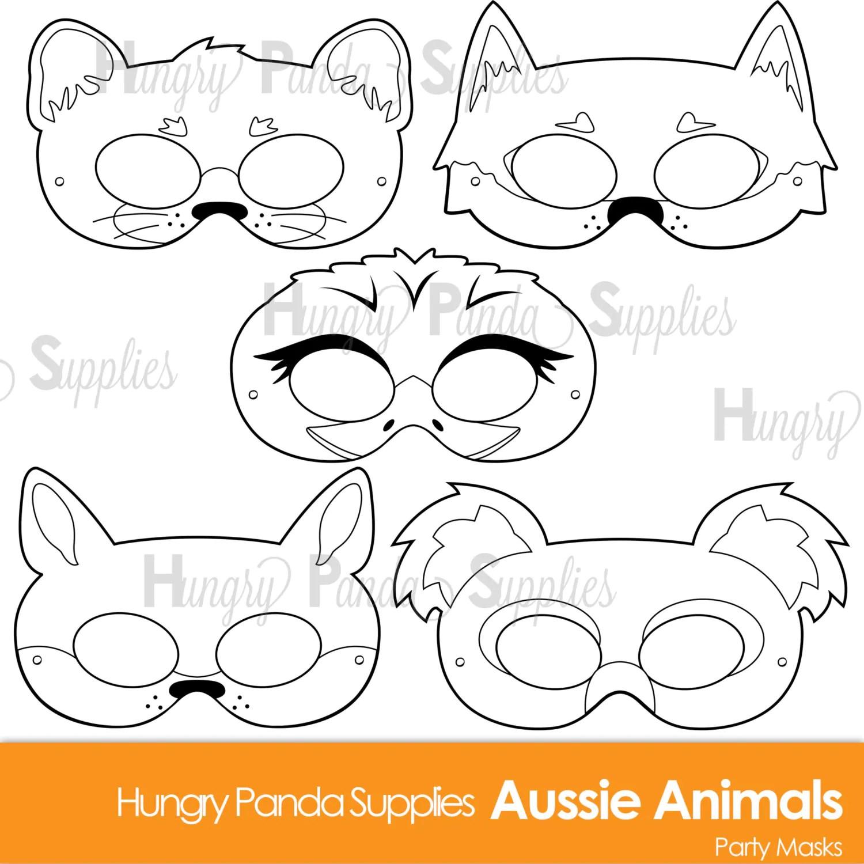 Australian Animals Printable Coloring Masks Aussie Animal