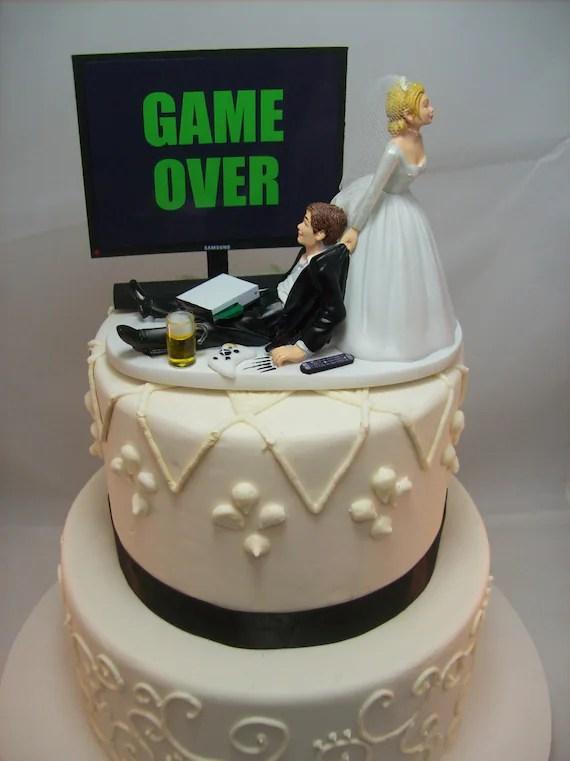 GAME OVER oder jedes SpielBild lustige Hochzeitstorte  Etsy