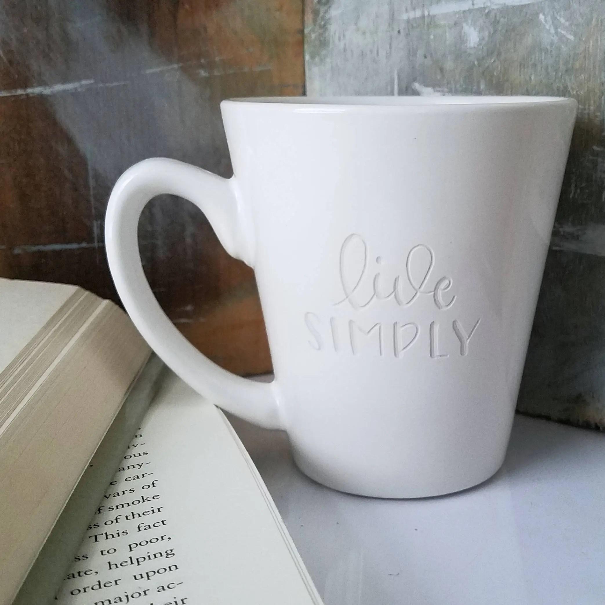 live simply engraved mugs