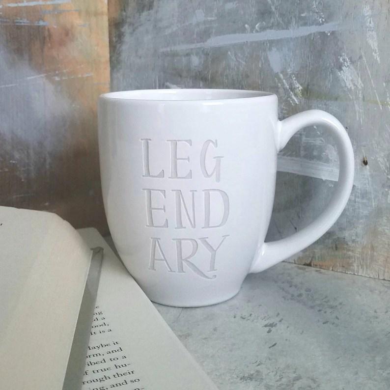 legendary mug engraved mugs
