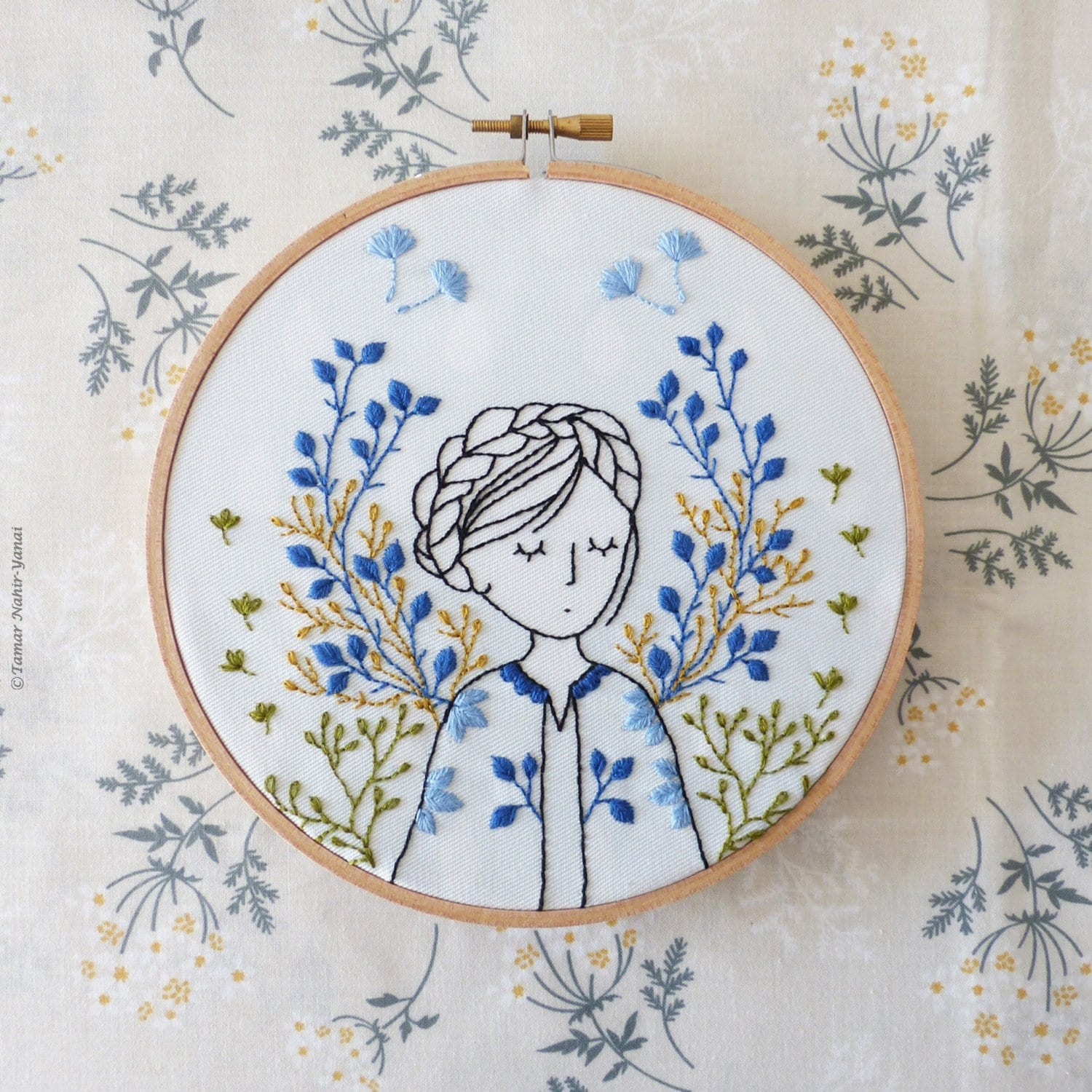 hand embroidery kit modern