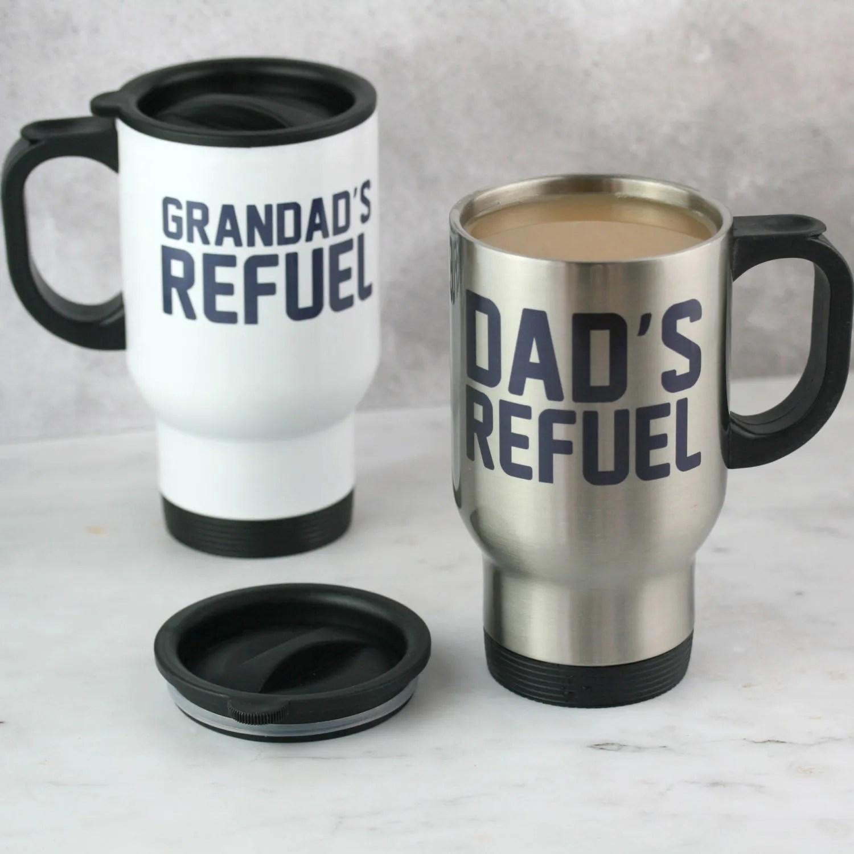 refuel custom travel mug