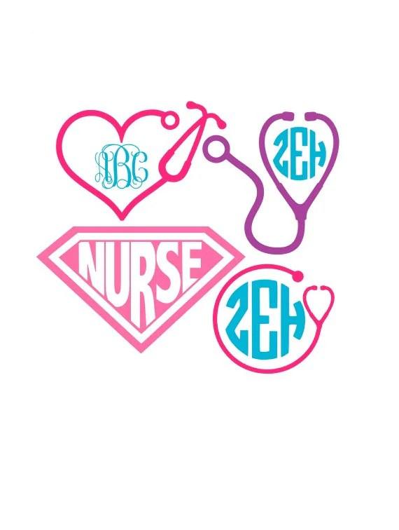 Download Nurse Svg Nurse Svg Files Stethoscope Svg Nurse Monogram ...