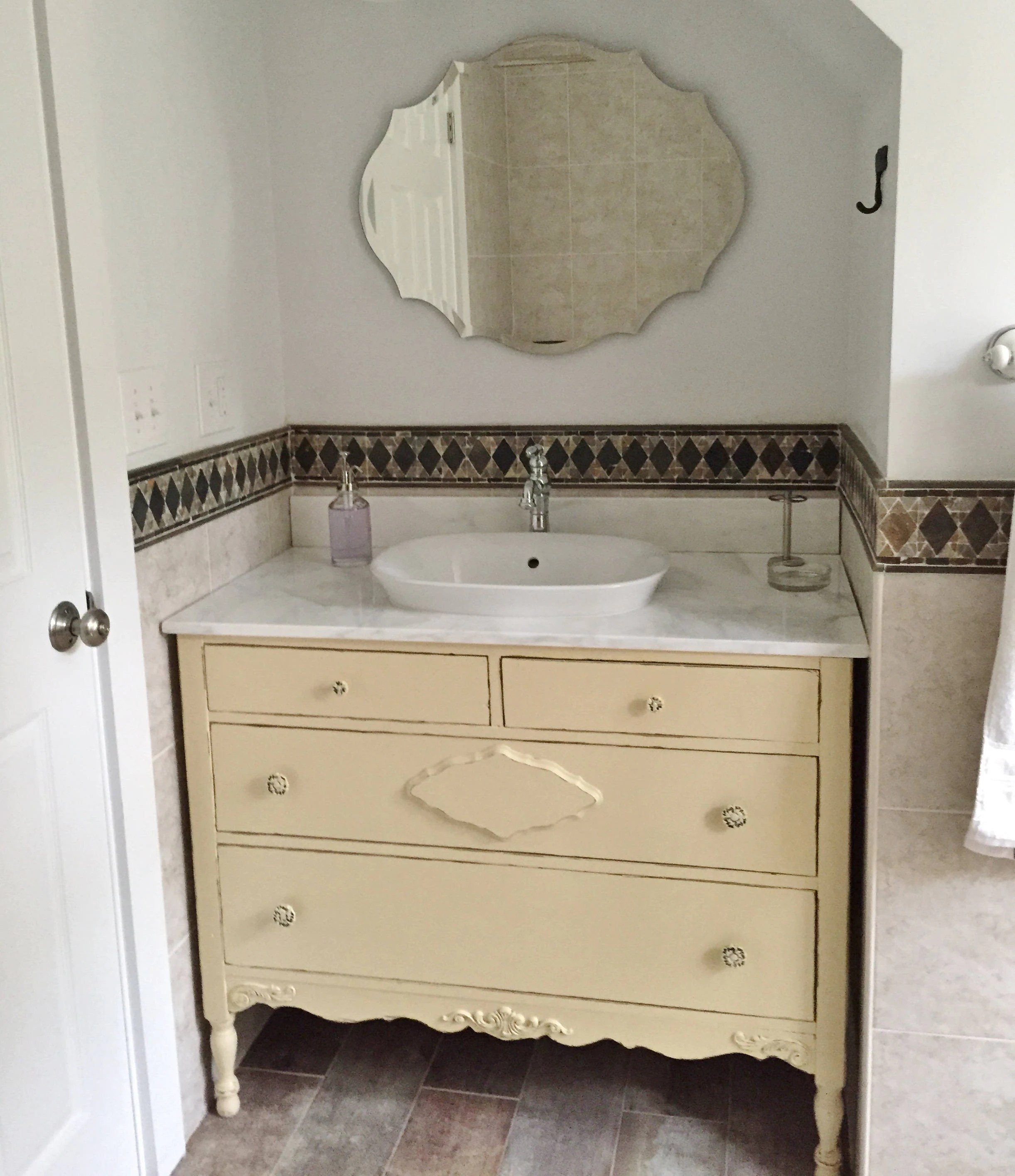 Bathroom Vanity From Antique Dresser Custom Order In Your Size Color And Style Antique Bathroom Vanity Single Or Double Sink