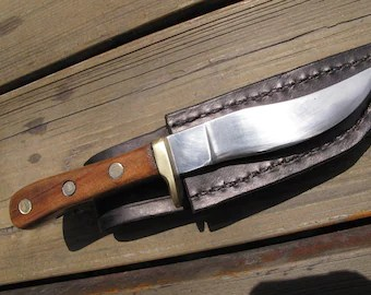 american made kitchen knives remodeling cost hand hunting boning fillet or knife etsy nice smaller fishing belt 440c stainless steel blade cherry wood handle and leather sheath