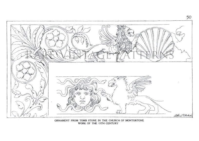 ORNAMENTAL Details Of The ITALIAN RENAISSANCE Rare Design