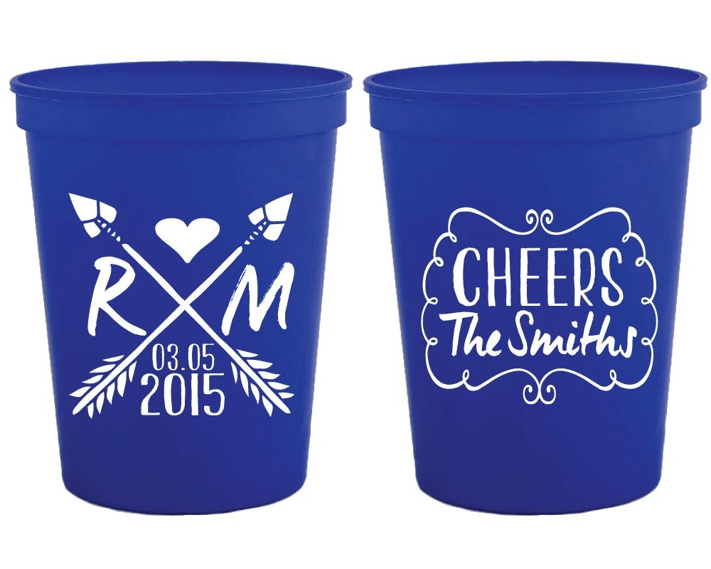 personalized plastic cups crossed