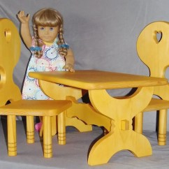 18 Doll Table And Chairs Hickory Chair Bedside Tables American Girl Set Or All Dolls Etsy