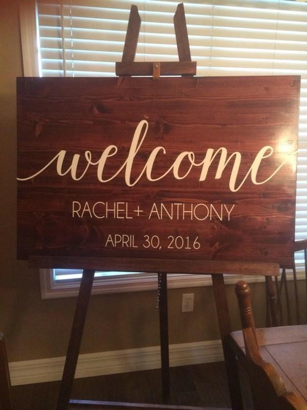 Sign Vinyl Decal Diy Wood Signs Wedding
