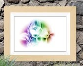 Rainbow abstract painting...