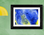 Blue and yellow abstract ...