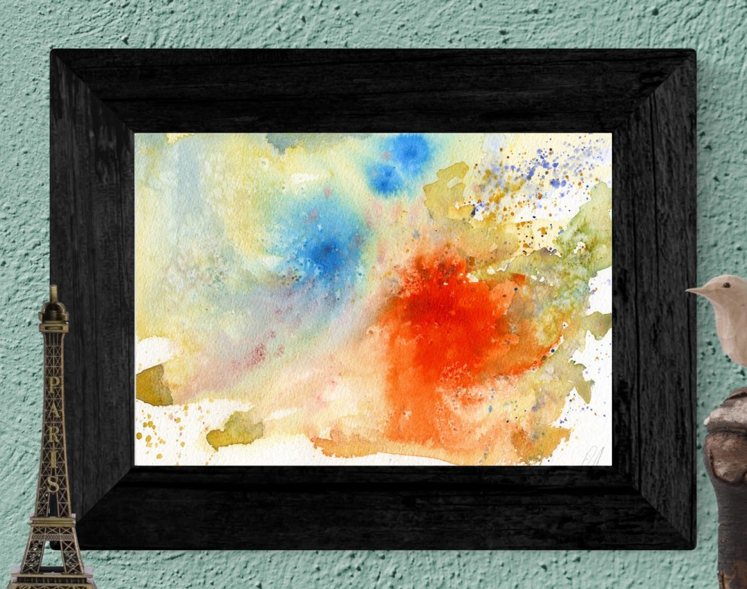 Watercolor Abstract paint...