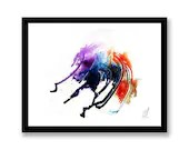Curved Art Abstract Paint...
