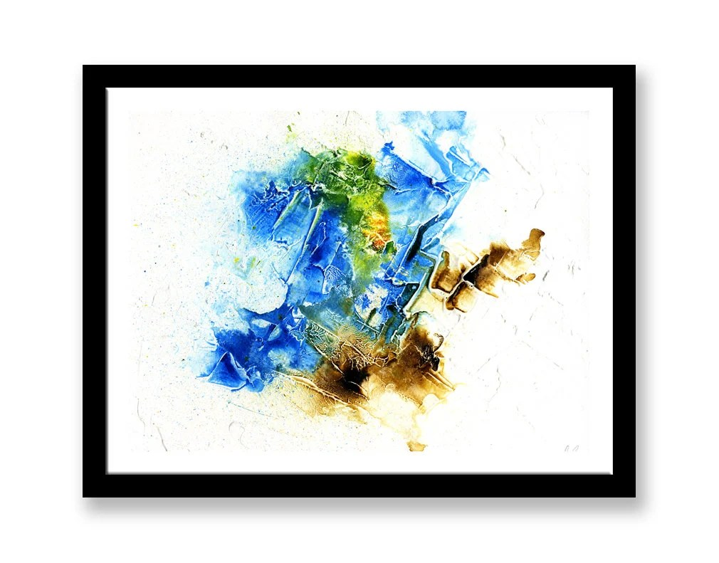 Blue and brown Abstract w...