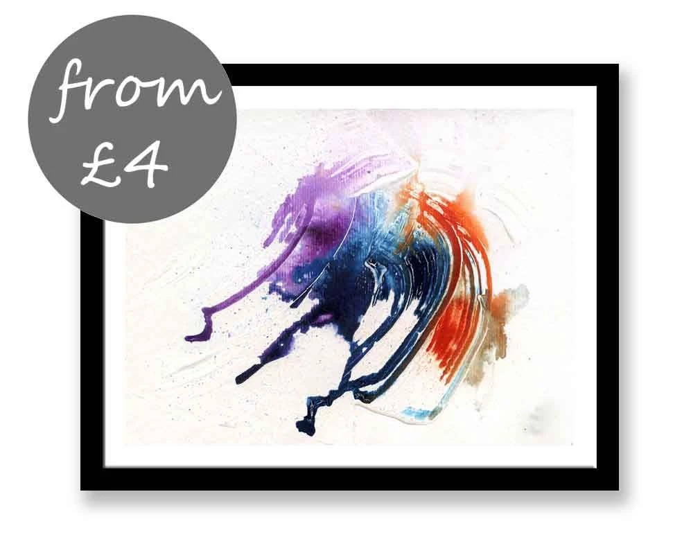 Curved Art Abstract Print...