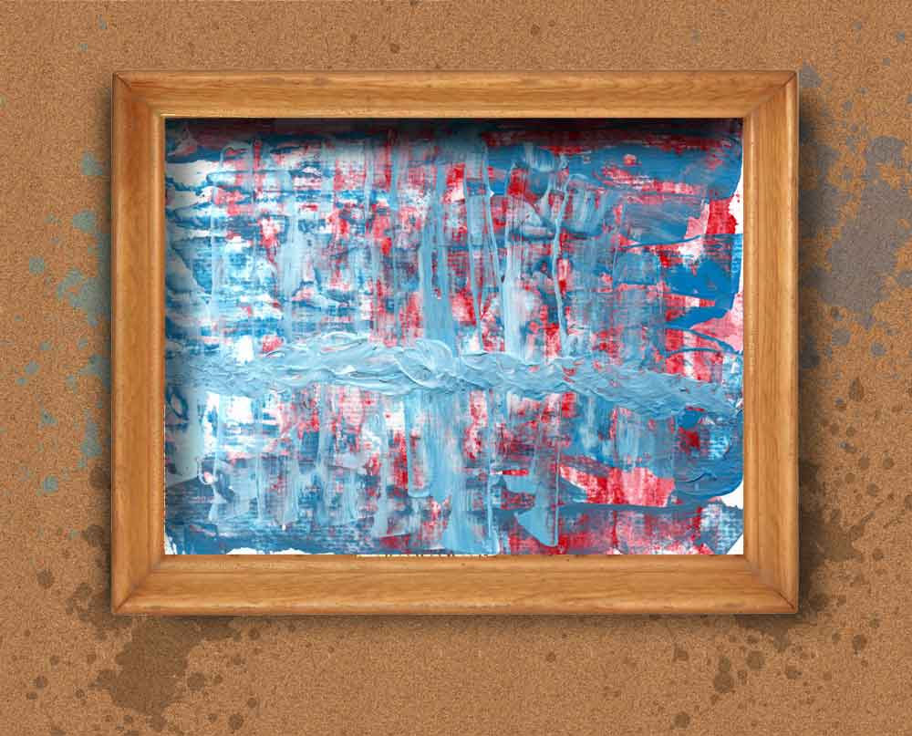 Red and Blue Impasto pale...