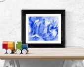 Blue and white abstract a...