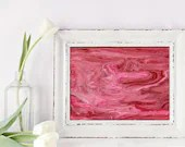 Pink and white fluid abst...