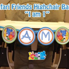 Safari High Chair Comfortable Gaming Banner I Am 1 Highchair Friends Etsy Image 0